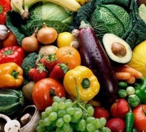 image de nourriture saine : fruits et légumes