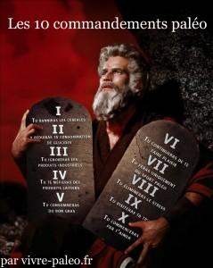 Les 10 commandements du régime paléo