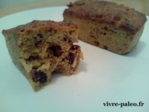 recette paléo de cake aux fruits