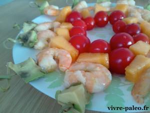 brochettes paléo de crevettes marinées