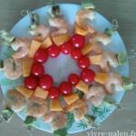 recette paléo de brochettes de crevettes marinées