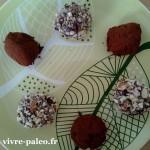 Recette de truffes au chocolat paléo
