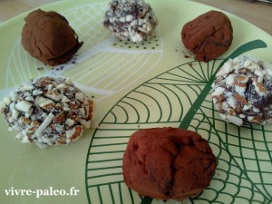 Recette paléo de truffes au chocolat