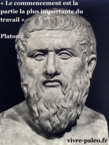 « Le commencement est la partie la plus importante du travail » - Platon