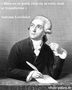 Antoine lavoisier - Rien ne se perd, rien ne se crée, tout se transforme