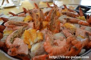 choucroute, crevettes, gambas, poissons