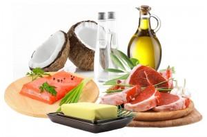 sources saines de bonnes graisses, coco, olive, beurre, poisson, viance
